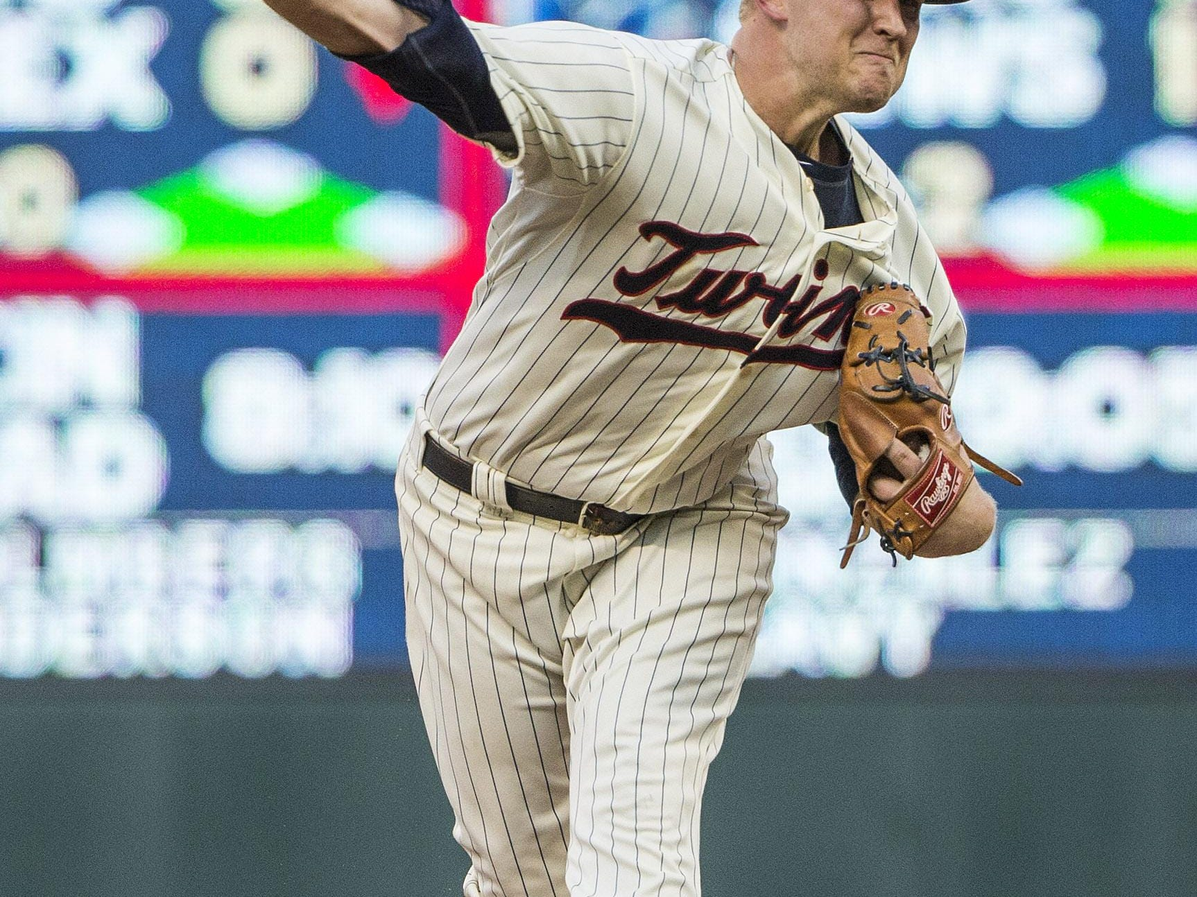 Minnesota starting pitcher Tyler Duffey gave up one hit in six innings against Cleveland on Saturday night at Target Field.