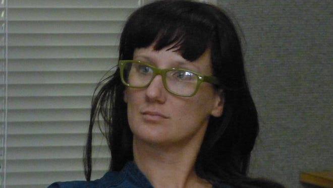 Naomi Legate shown at her August arraignment.