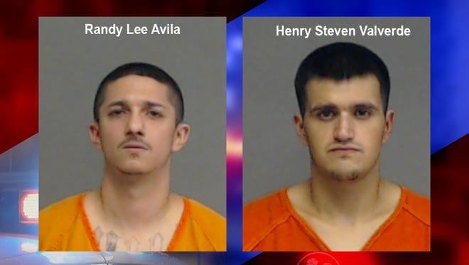 Mug shots of Randy Lee Avila and Henry Steven Valverde