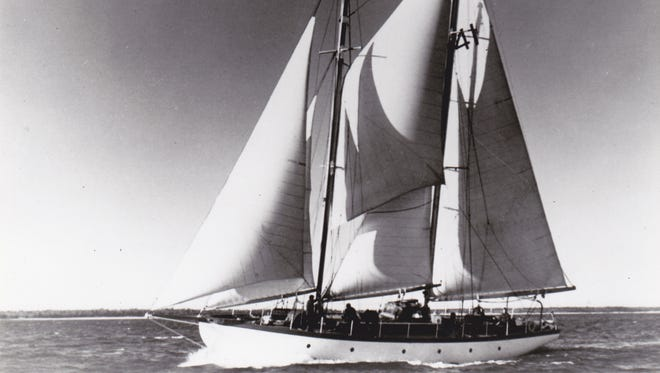 Ellsworth Peterson's 65-foot schooner Utopia was built in 1947 and donated to the Inland Seas Education Association in Traverse City, Michigan in 2016.