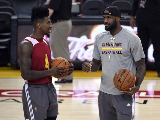 NBA: Playoffs-Cleveland Cavaliers Practice