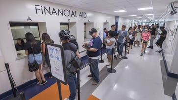 Which schools have the most students on financial aid?