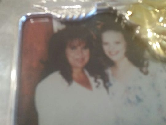 Angela Freeman is pictured in 1993 with her mother,