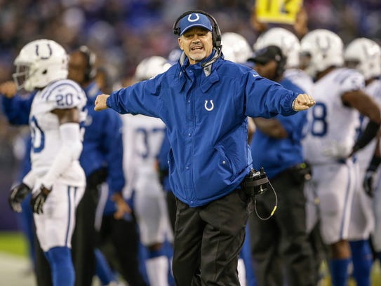 Pagano's Colts lost by 27 or more points nine times since 2012, the most of any team in football.