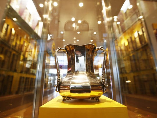 The Territorial Cup on display at ASU in 2014.