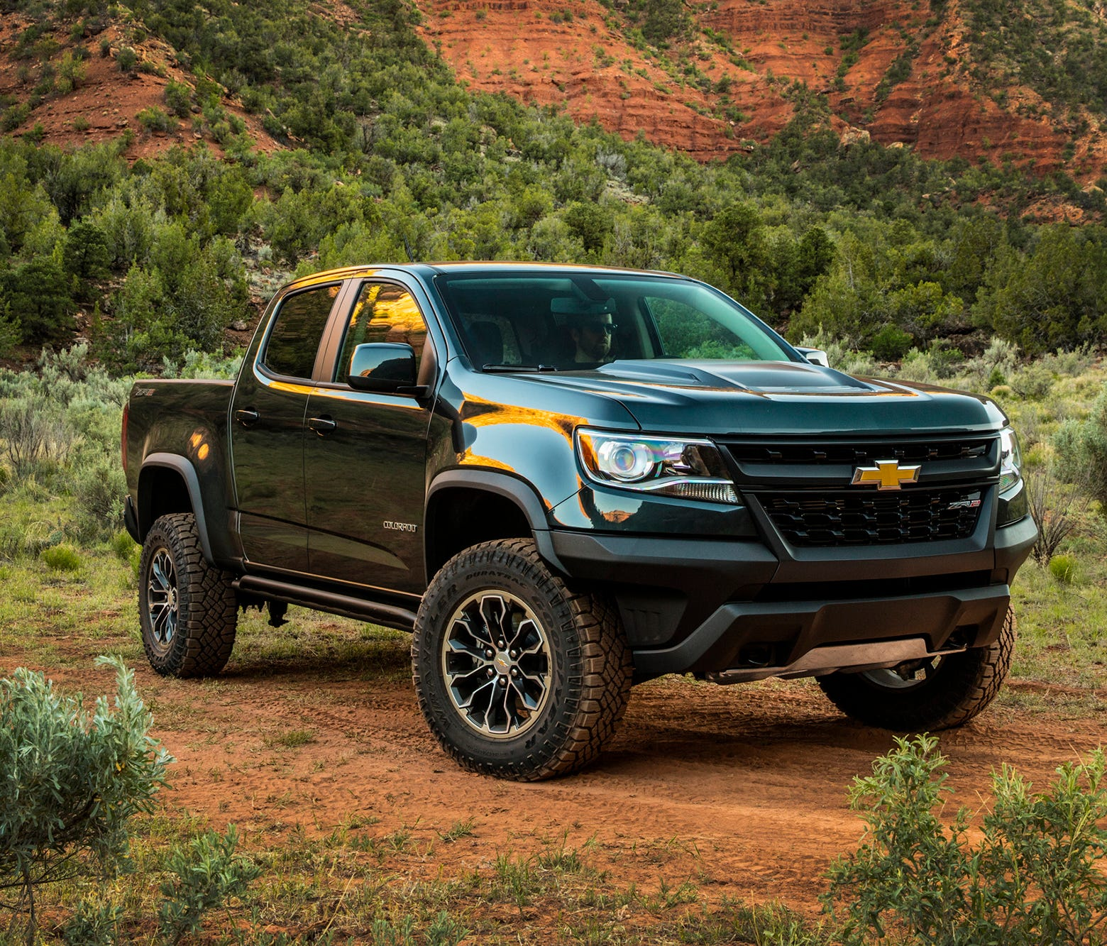 This update photo provided by Chevrolet shows the new 2018 Chevrolet Colorado ZR2. Full-size trucks such as the Chevrolet Silverado and Ford F-150 are hugely popular. But not everyone needs that much capability from a new pickup.  Chevrolet's smart-l