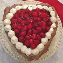 Use a heart-shaped cake pan for your Chocolate Cherry Valentine Torte.