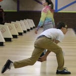 Northwest's Nate Bender prepares to release his ball during practice at Northwest Lanes.