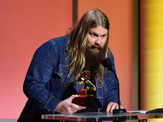 Musician Chris Stapleton at the 58th Annual Grammy