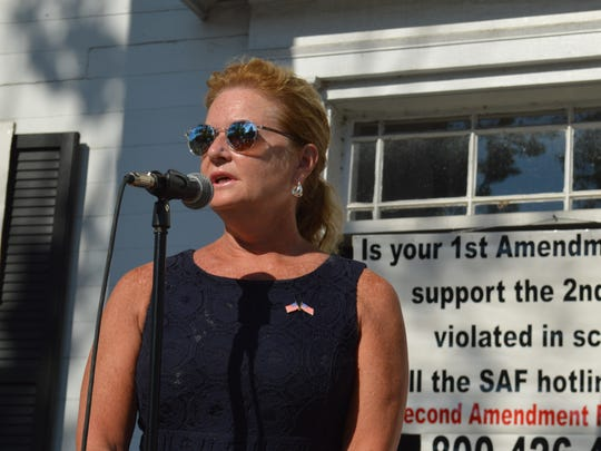 Putnam County Executive MaryEllen Odell speaks at the
