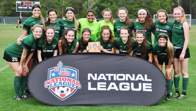 The under-16 Michigan Jaguars won the US Youth Soccer National League Blue Division title in Orlando, Fla.