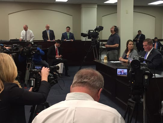 Sen. Whitney Westerfield testified on behalf of his