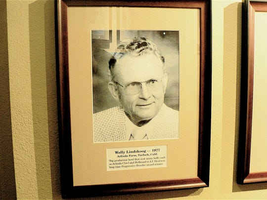 Wally Lindskoog of Arlinda Holsteins in Turlock, California, is one of the past dairy greats.