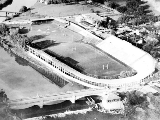 Historical photo of Iowa Field. Archives, Special Collections