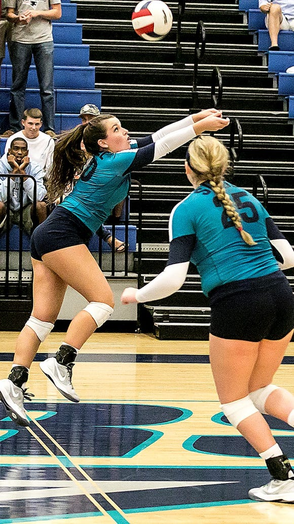 Siegel's Kristin Demonbreun, left, was named the District 7-AAA MVP.