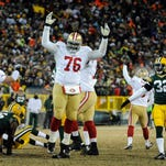 Former Rutgers and Piscataway High School star Anthony Davis (76) announced his plans to take some time off from the NFL and the San Francisco 49ers.