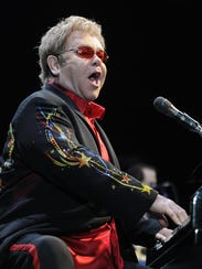 Elton John, shown during his 2010 concert at the Resch
