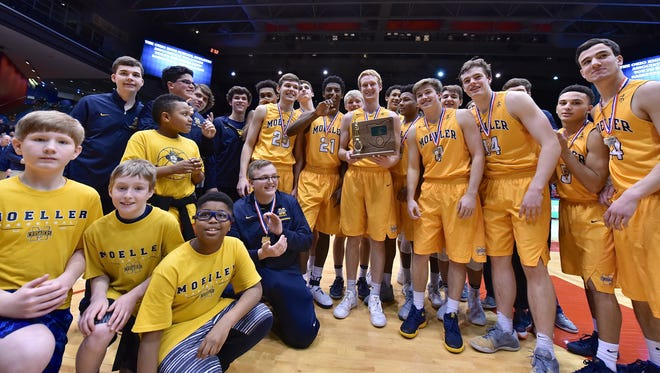 District Champions, the Moeller Crusaders March 11th at the University of Dayton.
