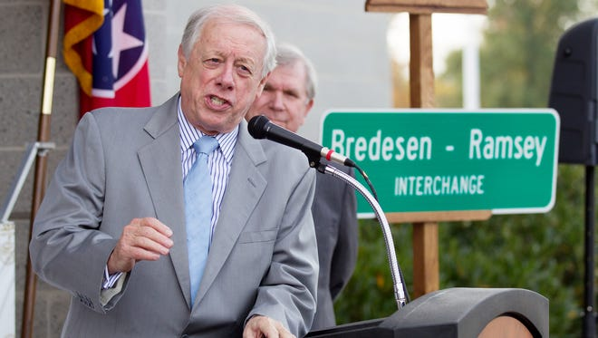 Former Gov. Phil Bredesen is running for the U.S. Senate. He is seen here in a 2015 file photo.