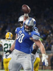 Lions offensive lineman Graham Glasgow: Started 11