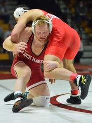 Chance Marsteller is 36-1 this season for the Lock Haven University wrestling team. BIL BOWDEN PHOTO