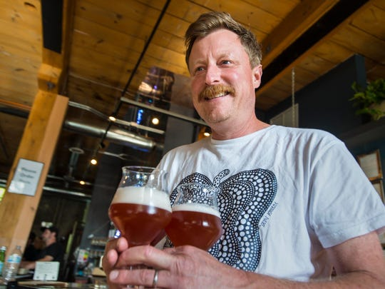 Todd Haire of Foam Brewery is collaborating with Bill Mares to produce House of Fermentology sour beers.  Seen at Foam Brewery in Burlington on Friday, August 5, 2016.