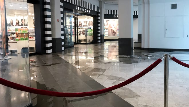 A small electrical fire at The Westchester caused some of the mall's stores to close early on Sunday. Some areas of the mall were cordoned off to shoppers after the fire.
