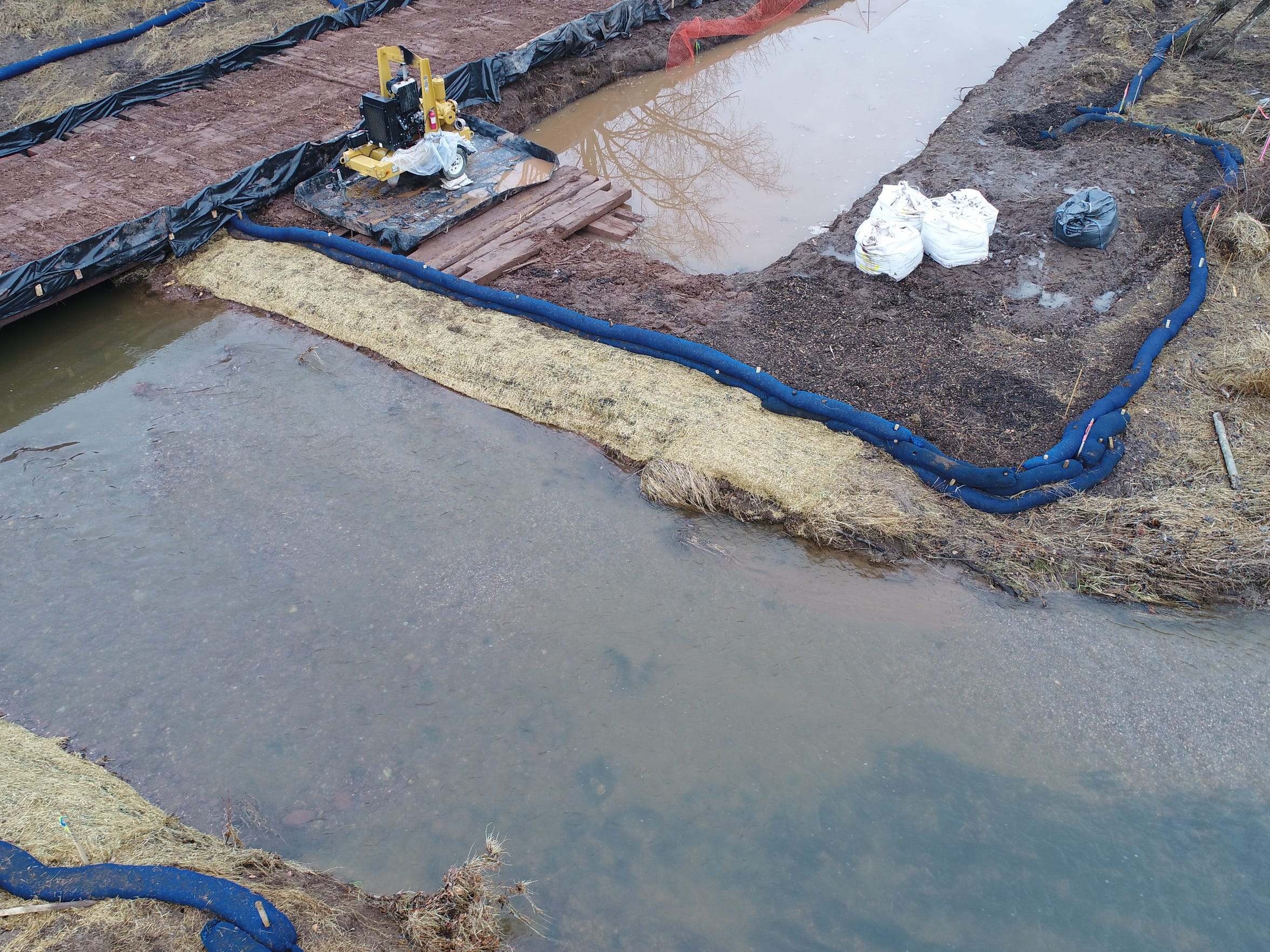 Sediment entered the Conewago Creek during Atlantic Sunrise pipeline construction on Jan. 28.
