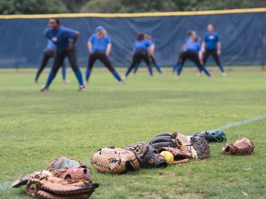 UWF's softball team gets one last practice on their home field Monday afternoon, May 22, 20017, before heading off to the NCAA Division II Softball Championship in Virginia.