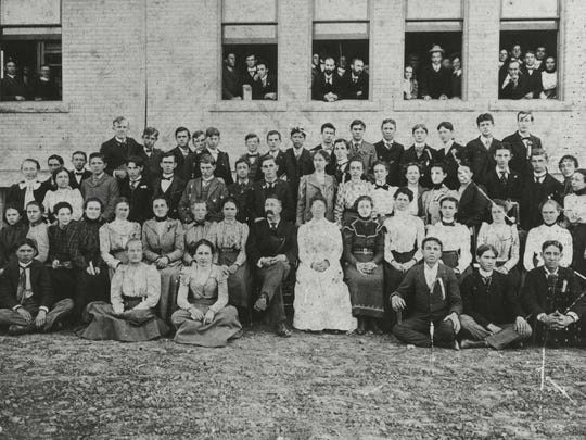 The first students to attend Eastern Indiana Normal