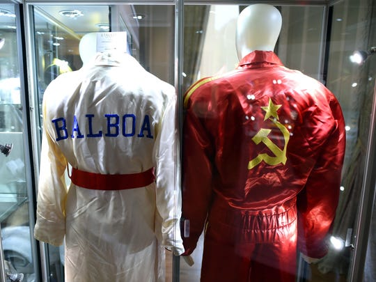 "The robes worn by Rocky Balboa and Ivan Drago in ""Rocky"
