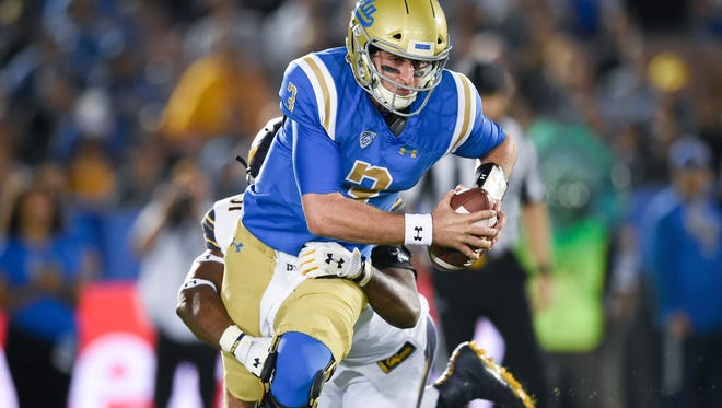 One area Josh Rosen needs to improve is his mobility, but at UCLA, he usually did a decent job throwing under pressure.