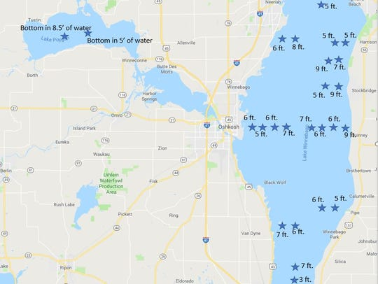 Water clarity on Lake Winnebago going into the 2018