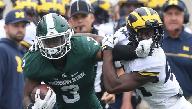Michigan State running back LJ Scott rushed for 994 yards as a sophomore last season.