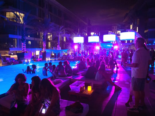 Pool party at the W Scottsdale Hotel.