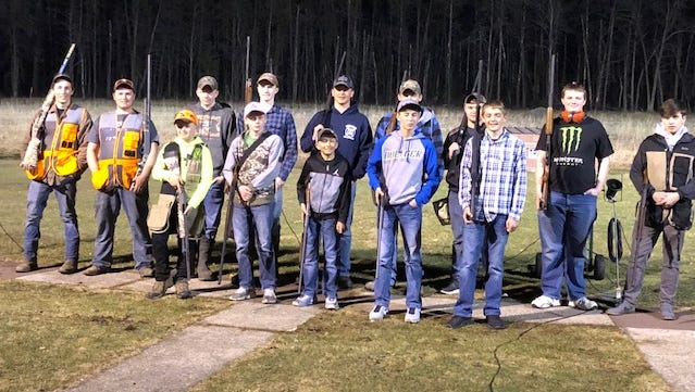 Members of the Oconto youth trap team.