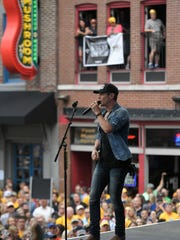 Granger Smith performs on Broadway before Stanley Cup