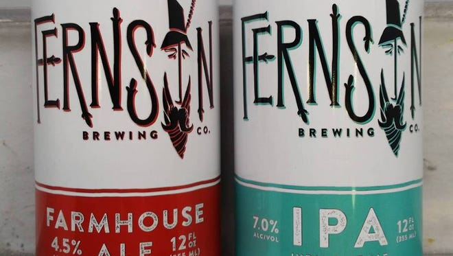 The new can designs for Fernson Brewing Company.