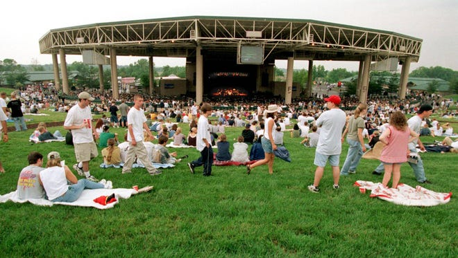 This 1998 photo shows Deer Creek Music Center on opening night of its 10th season, a show headlined by the Foo Fighters.