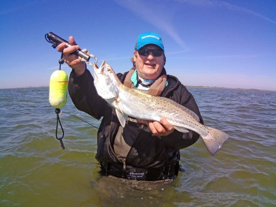 Michael Heinicke caught his first Baffin Bay trout