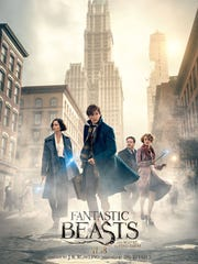"One of the promotional posters for ""Fantastic Beasts and Where to Find Them."""