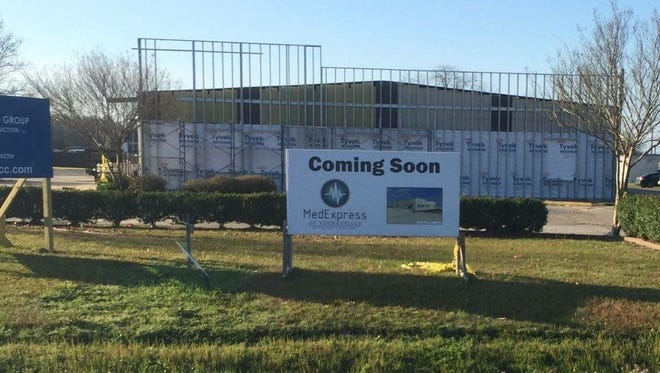 The new MedExpress will be built in the former Pat's Grocery in Youngsville