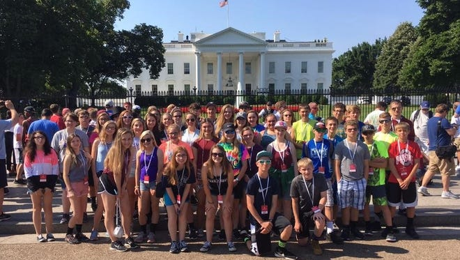 47 McPherson Middle School  eighth graders toured Washington, D.C. last weekend.