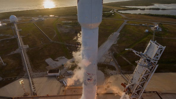 A SpaceX Falcon 9 rocket blasted off last May with
