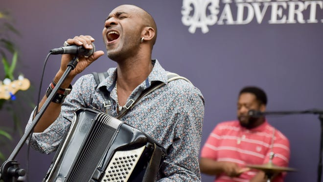 Curley Taylor and Zydeco Trouble perform as the featured guests for Acadiana Roots. Wednesday, March 29, 2017.