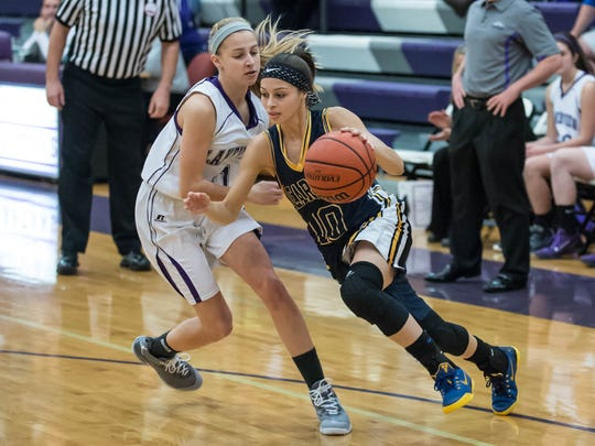 Battle Creek Central's Ka-Leah Ryan (10) is averaging