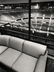 An upper-level suite at the Palace of Auburn Hills