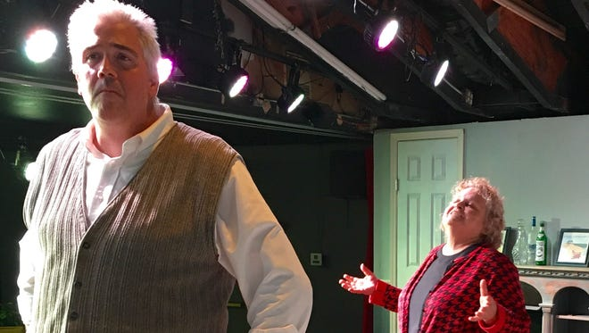 """Brian Pecci and Leslie Parker-Earll star in """"""""Mothers and Sons"""""""" at the Pineapple Playhouse in Fort Pierce."""