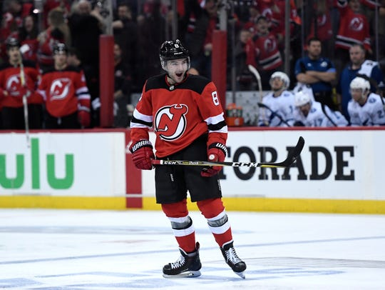 **CORRECTION** New Jersey Devils defenseman Will Butcher