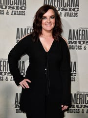 Brandy Clark arrives on the red carpet for the Americana Music Honors & Awards in 2017.